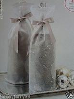 Martha Stewart Holiday,christmas Wine, Beverage Winter Frost Metallic Gift Bags