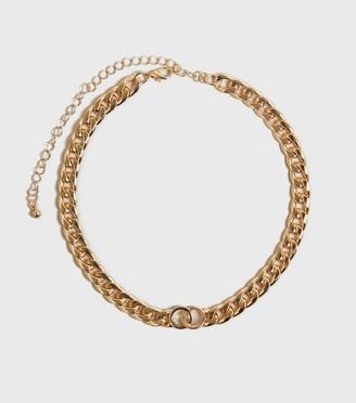 New Look Linked Circle Chunky Chain Choker
