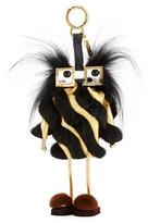 Fendi Witches Power Bank Fur Charm for Handbag, Black/Gold