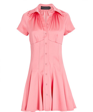 Brandon Maxwell Poplin Mini Shirt Dress