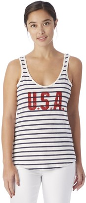 Alternative Women's USA Graphic Eco Jersey Castaway Tank Top