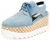 Stella McCartney Elyse Denim Platform Creeper, Blue