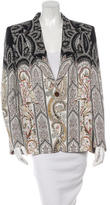 Etro Paisley Print Notch Lapel Blazer w/ Tags