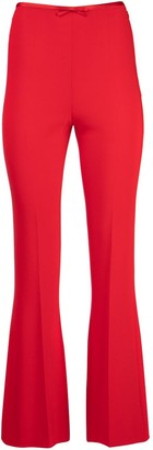 Miu Miu Faille Cady Flared Trousers