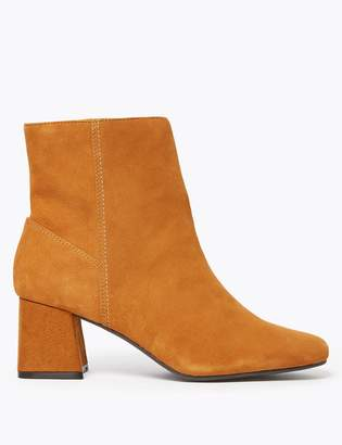 Marks and Spencer Leather Flared Heel Ankle Boots