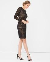 White House Black Market Black Lace Sheath Dress
