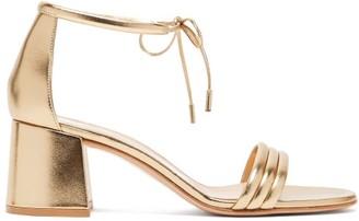 Gianvito Rossi Triple-strap 60 Metallic-leather Sandals - Gold