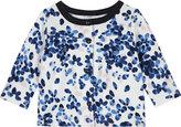 Petit Bateau Watercolour floral print cotton cardigan 3-36 months