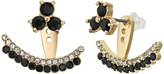 Kate Spade Dainty Sparklers Double Row Ear Jackets Earring
