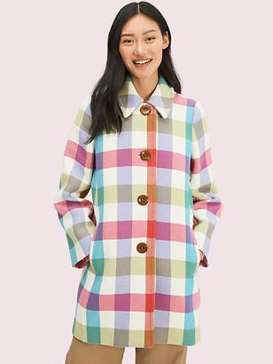 Kate Spade Bold Plaid Coat