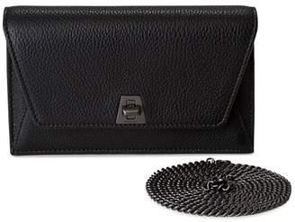 Akris Mini Anouk Envelope Metallic Leather Crossbody Bag