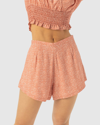 Cools Club - Women's Orange High-Waisted - Resort Shorts - Size One Size, 8 at The Iconic