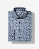 Express slim fit floral dress shirt