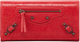 Balenciaga Classic Money Wallet, Red