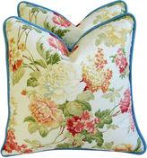 One Kings Lane Vintage English Jacquard Floral Pillows, Pair