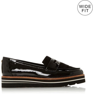 Dune London WF Gracella Wide Fit Flatform Loafers