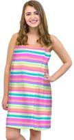 Multi Stripe Size Small/Medium Cotton Shower Wrap