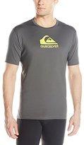 Quiksilver Men's Solid Streak Short Sleeve Surf Tee Rashguard