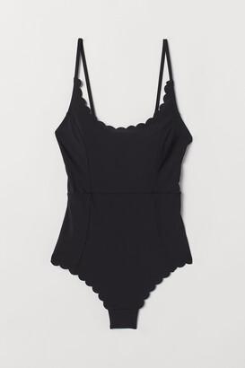 H&M Scalloped-edge Swimsuit