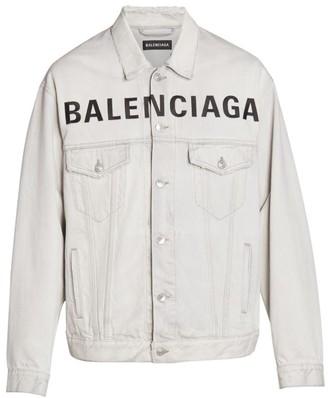 Balenciaga Oversized Logo Denim Jacket