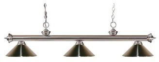 Pool' Brynlee 3-Light Pool Table Lights Linear Pendant Red Barrel Studio Finish: Brushed Nickel, Shade Color: Brushed Nickel