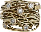 BOAZ KASHI Large Wire Diamond Ring