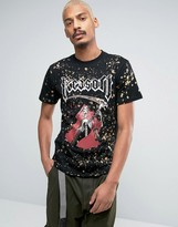 Reason T-Shirt With Skeleton Print And Bleach Splat