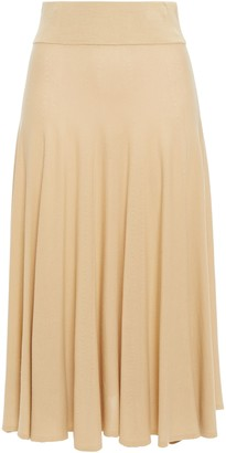 MM6 MAISON MARGIELA Flared Pointelle-trimmed Stretch-knit Midi Skirt