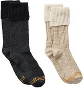 Gold Toe Girls GOLDTOE 2-pk. Cable Lace Boot Socks