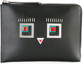 Fendi Hypnoteyes leather pouch