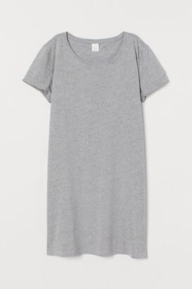 H&M Jersey T-shirt Dress - Gray