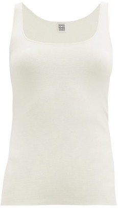 Totême Urda Scoop-neck Jersey Tank Top - Ivory