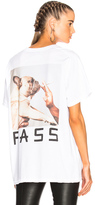 Baja East Supima Cotton Jersey Graphic Tee in White.