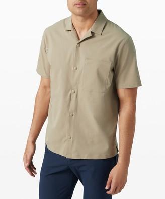 Lululemon Airing Easy Camp Collar Short Sleeve Shirt