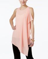Cable & Gauge Ruffled Asymmetrical Tunic