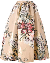 Fendi baroque flower midi skirt - women - Silk/Cotton/Polyester/Metallic Fibre - 40