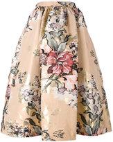 Fendi baroque flower midi skirt - women - Silk/Cotton/Polyester/Metallic Fibre - 42