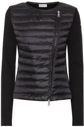 Moncler Asym wool down jacket