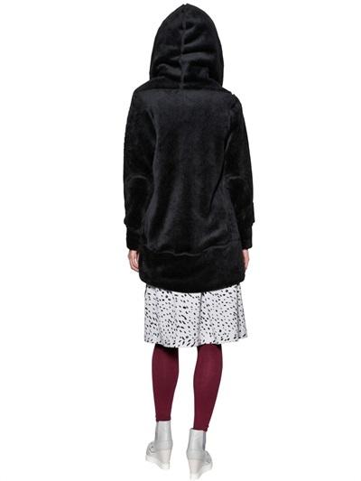 Tsumori Chisato Hooded Plush Zip Up Coat