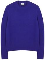 Acne Studios Peele Bright Blue Wool Blend Jumper