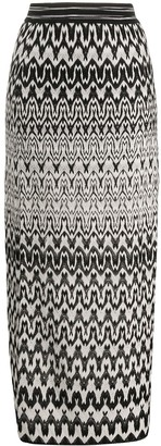 Missoni High Waisted Geometric Knit Skirt