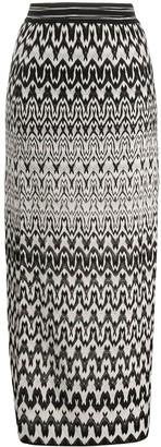 Missoni high waisted geometric knit skirt