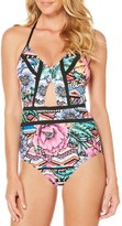 Laundry by Shelli Segal Women's Laguna Flora One-Piece Swimsuit