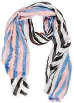 Yigal Azrouel Raw Edge Striped Scarf w/ Tags