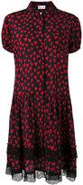 RED Valentino heart print shirt dress - women - Silk - 42