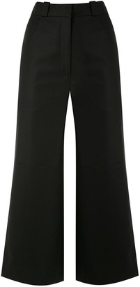 Andrea Marques Panelled Cropped Trousers