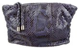 Tod's Ruched Python Clutch