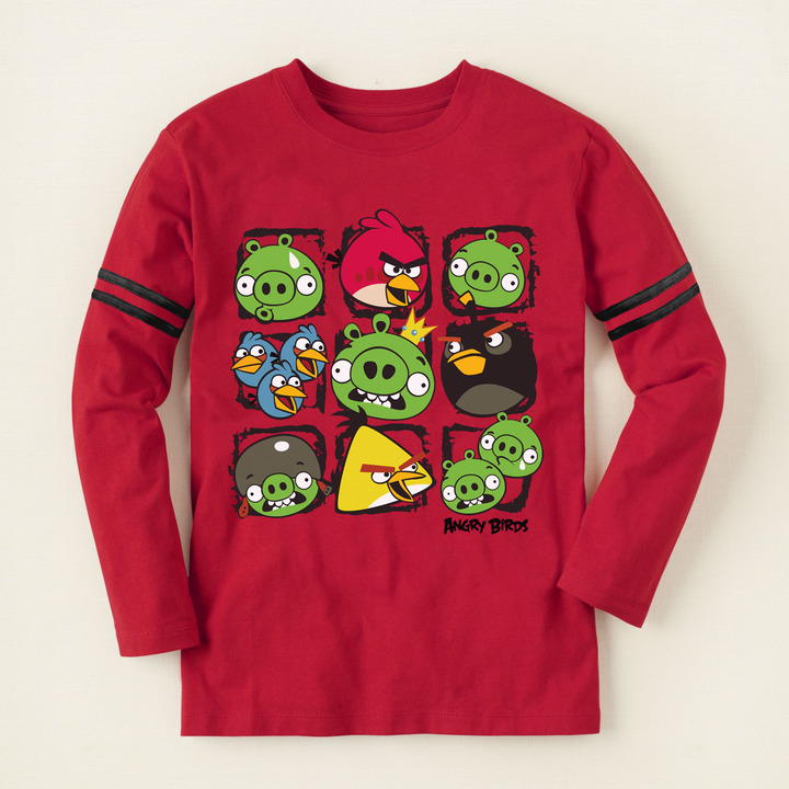 Children's Place Angry Birds battle graphic tee