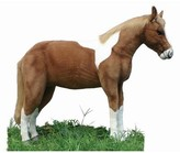 The Well Appointed House Hansa Toys Life Sized Standing Stuffed Brown and White Horse