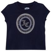 Juicy Couture Navy Jewelled Motif Tee